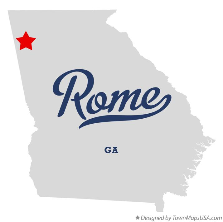 Map Of Rome GA Georgia - Georgia map rome
