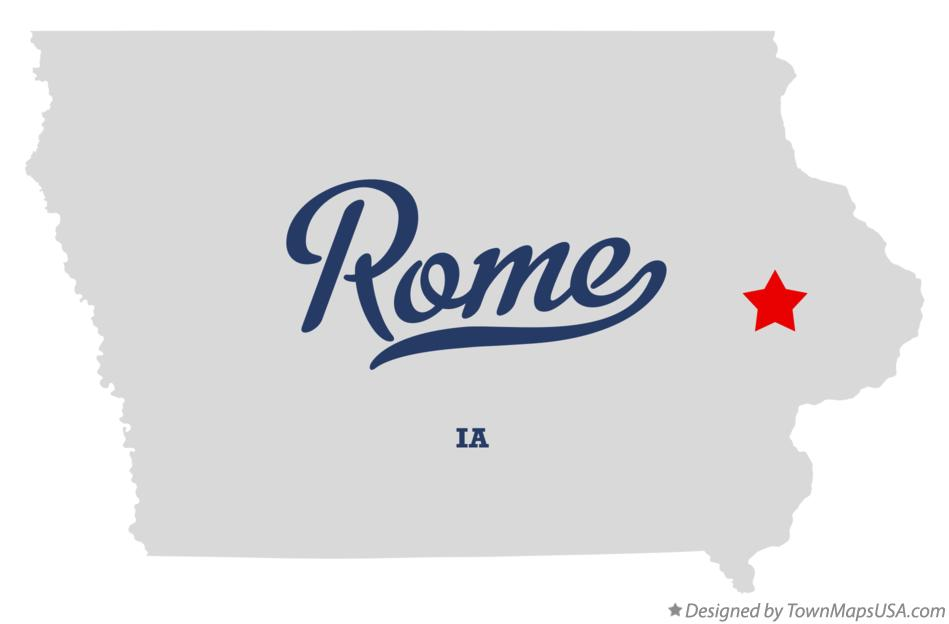 Map of Rome Iowa IA