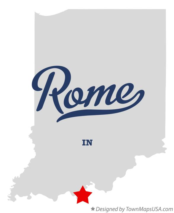 Map of Rome Indiana IN