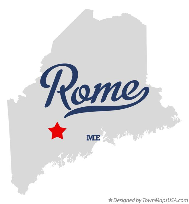 Map of Rome Maine ME