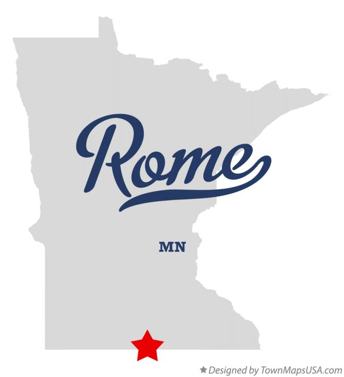 Map of Rome Minnesota MN