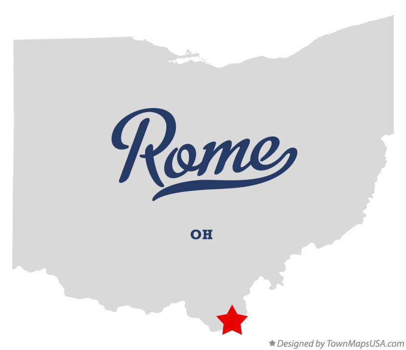 Map of Rome Ohio OH