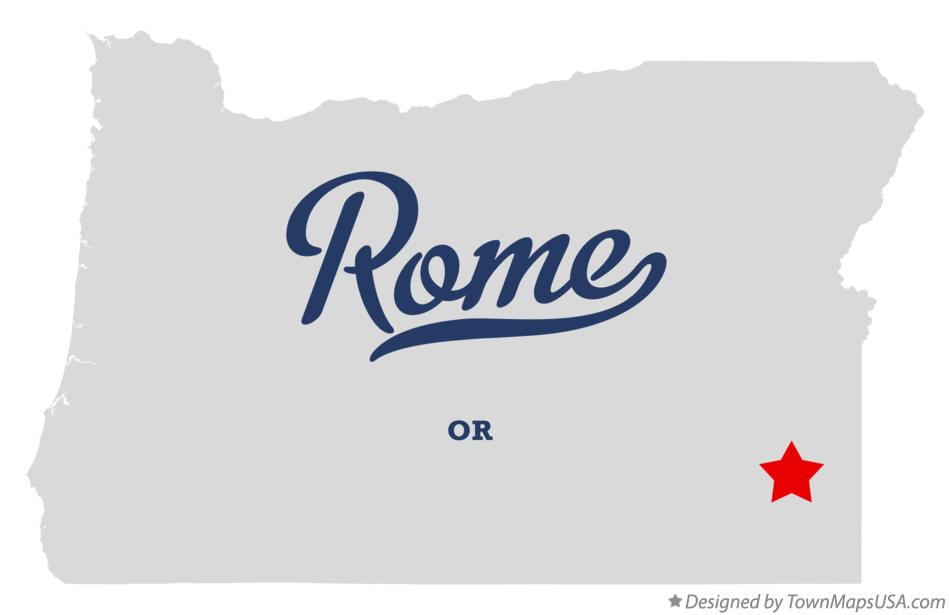 Map of Rome Oregon OR