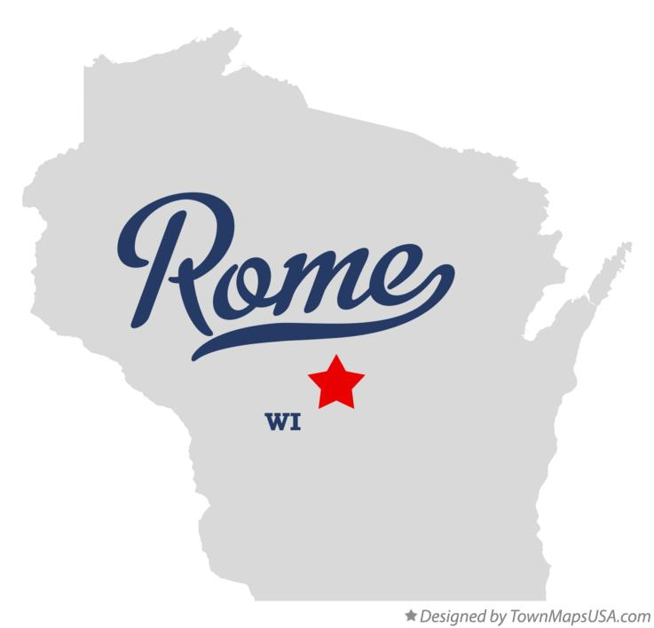 Map of Rome Wisconsin WI