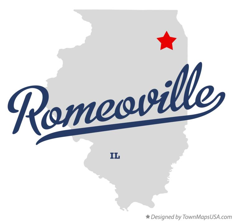 Map of Romeoville Illinois IL
