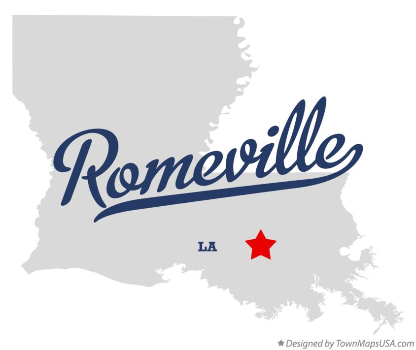 Map of Romeville Louisiana LA