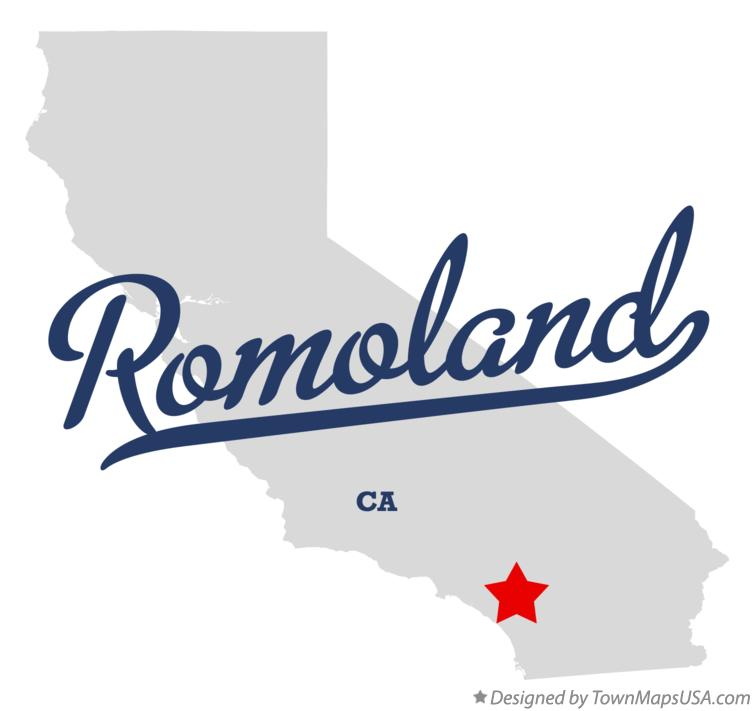 Map of Romoland California CA