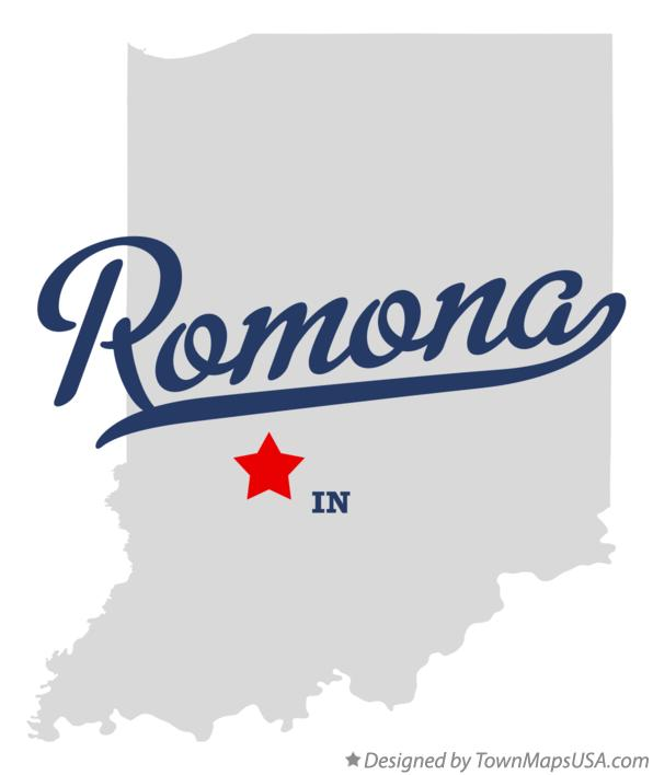 Map of Romona Indiana IN