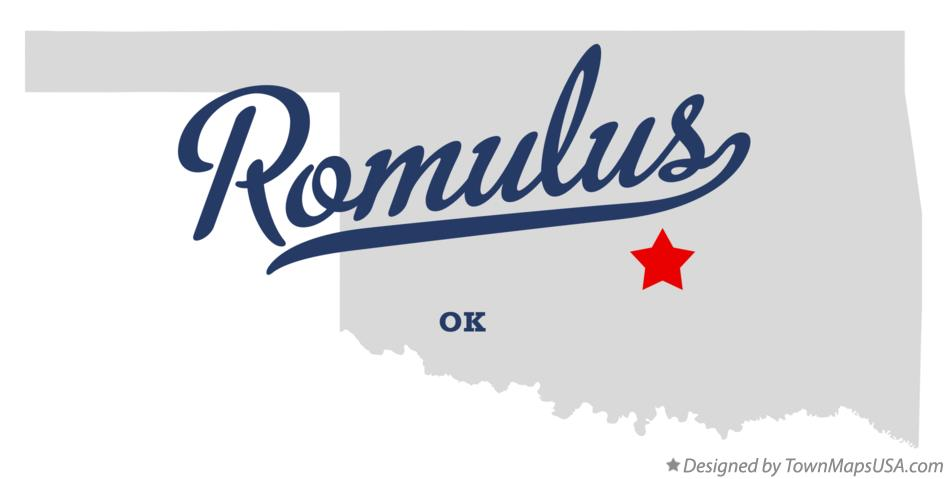 Map of Romulus Oklahoma OK