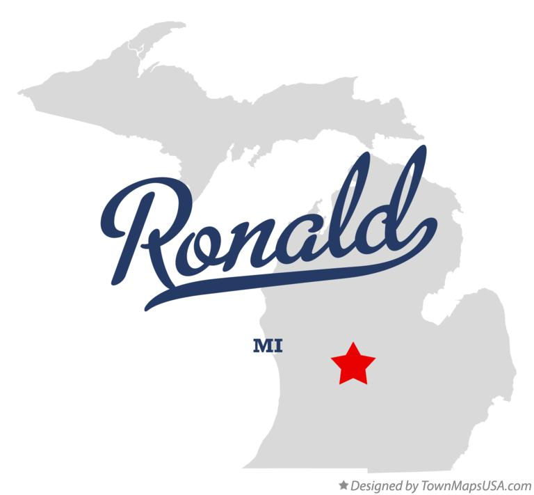Map of Ronald Michigan MI