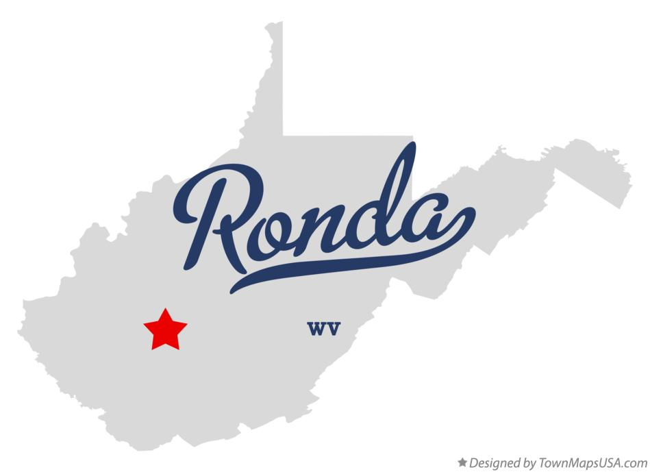 Map of Ronda West Virginia WV