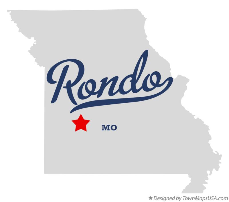 Map of Rondo Missouri MO