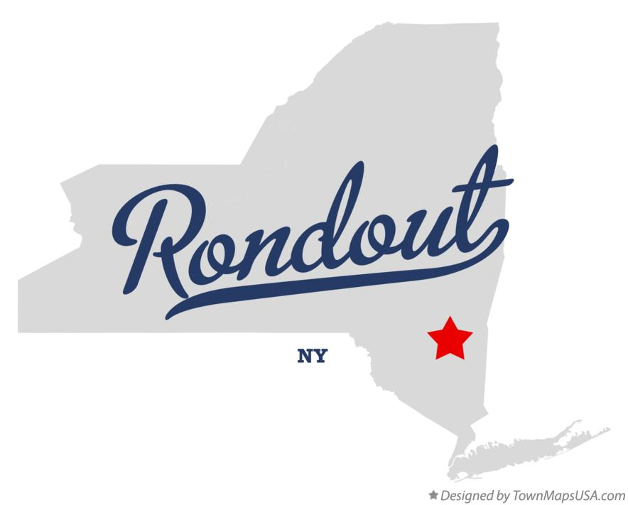 Map of Rondout New York NY
