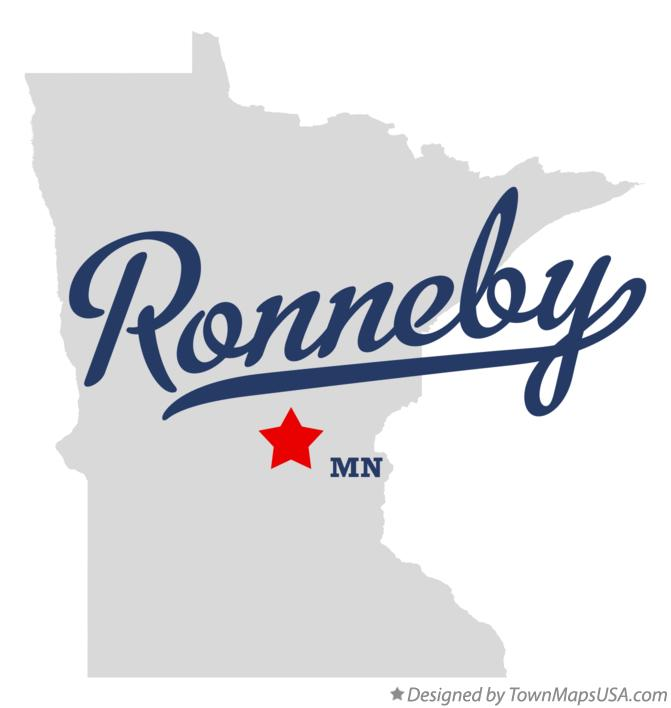 Map of Ronneby Minnesota MN