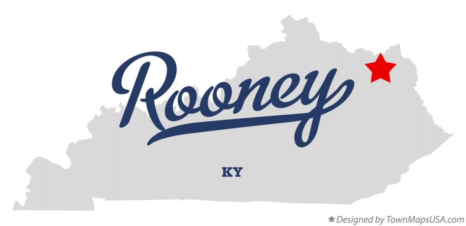 Map of Rooney Kentucky KY
