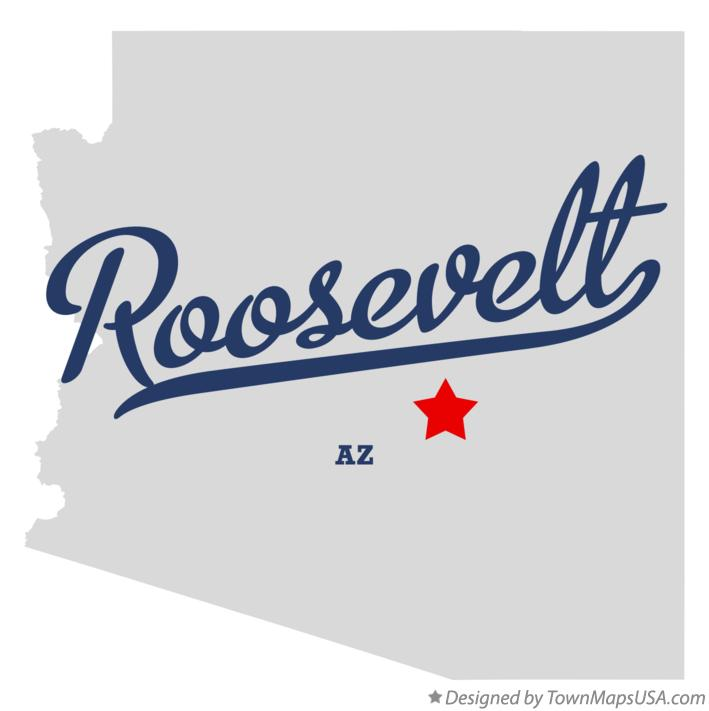 Map of Roosevelt Arizona AZ