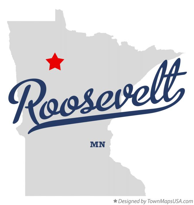 Map of Roosevelt Minnesota MN