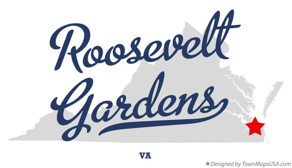 Map of Roosevelt Gardens Virginia VA