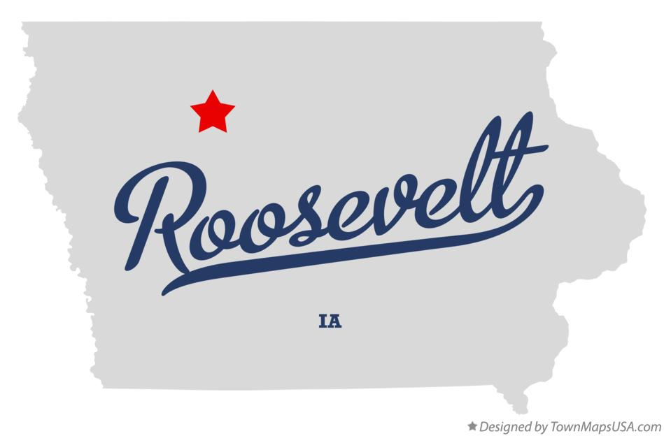 Map of Roosevelt Iowa IA