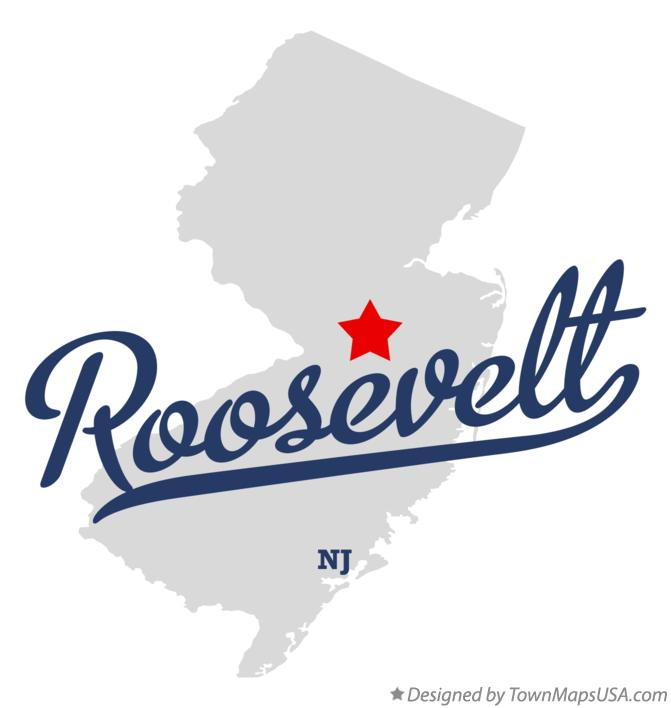 Map of Roosevelt New Jersey NJ