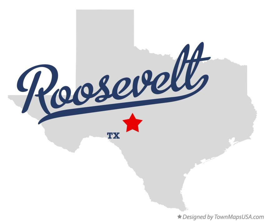 Map of Roosevelt Texas TX