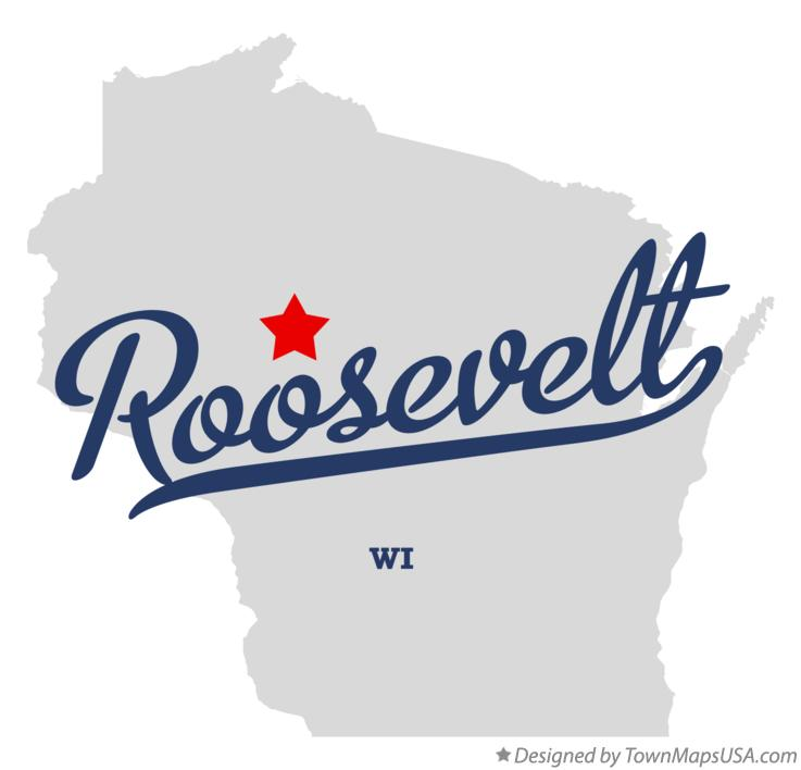 Map of Roosevelt Wisconsin WI