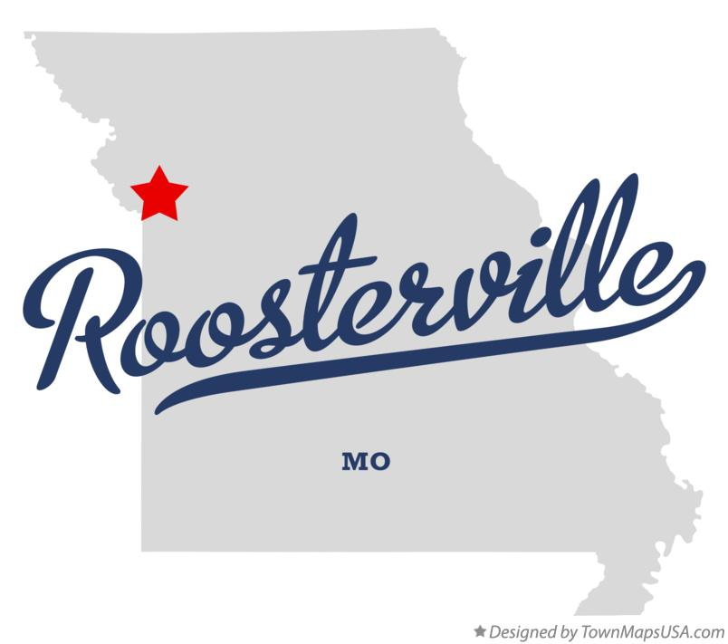 Map of Roosterville Missouri MO