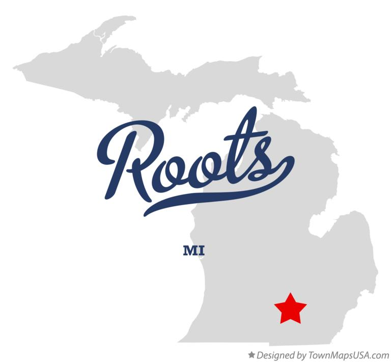 Map of Roots Michigan MI