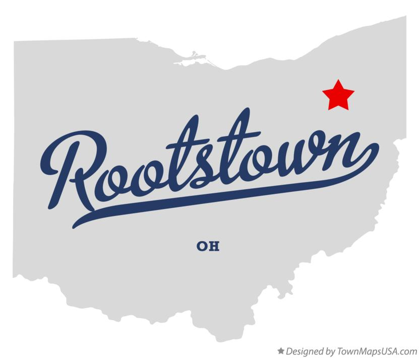 Map of Rootstown Ohio OH
