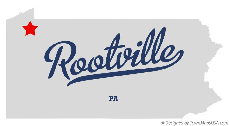 Map of Rootville Pennsylvania PA