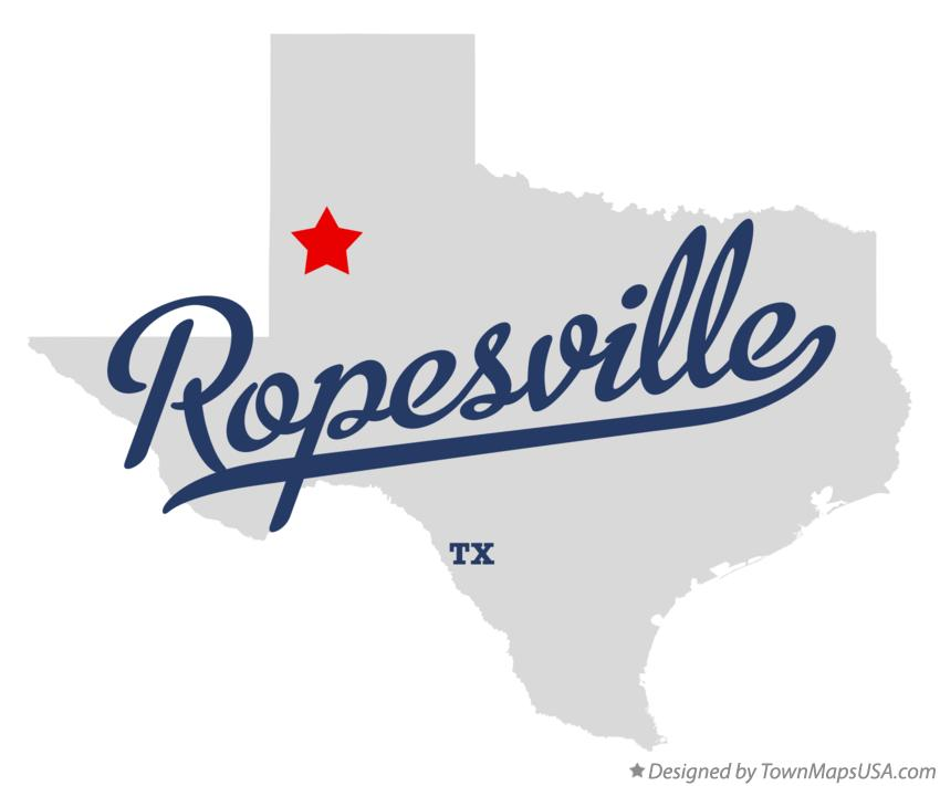 Map of Ropesville Texas TX