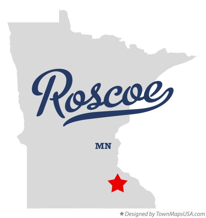 Map of Roscoe Minnesota MN