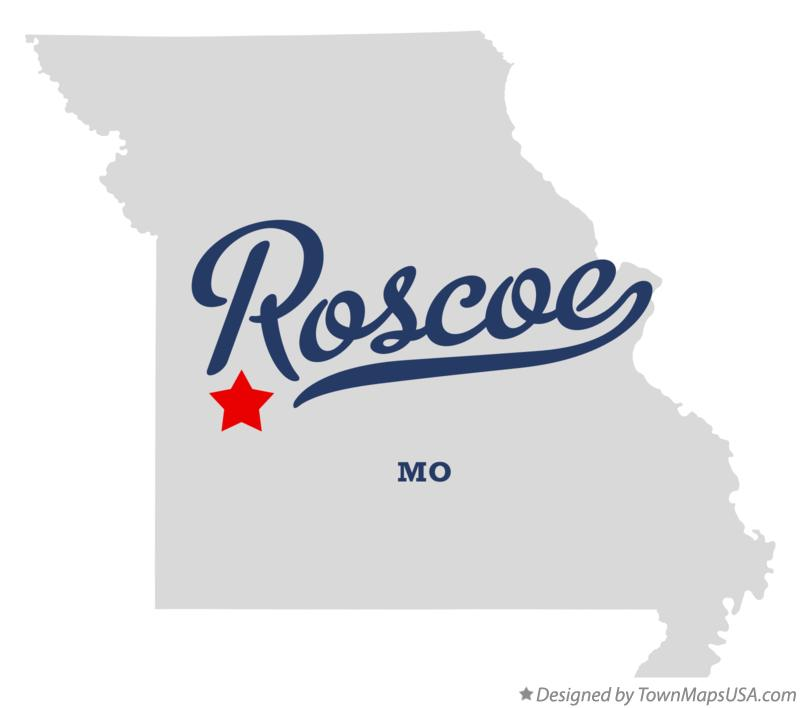 Map of Roscoe Missouri MO