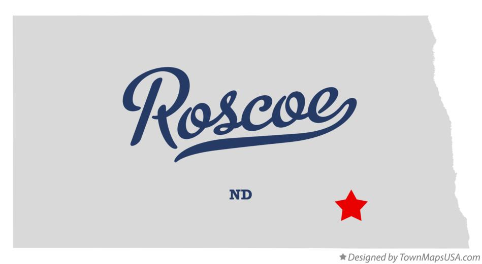 Map of Roscoe North Dakota ND