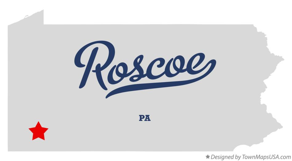 Map of Roscoe Pennsylvania PA