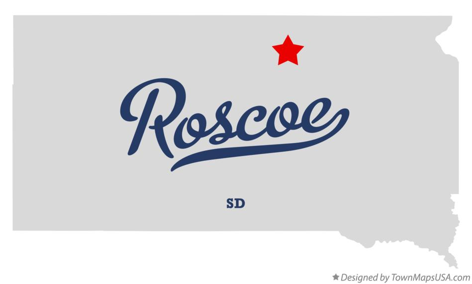 Map of Roscoe South Dakota SD