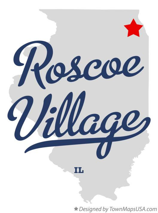 Map of Roscoe Village Illinois IL