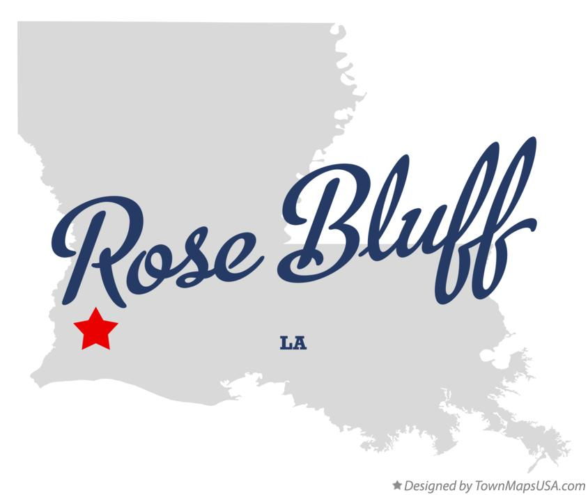Map of Rose Bluff Louisiana LA