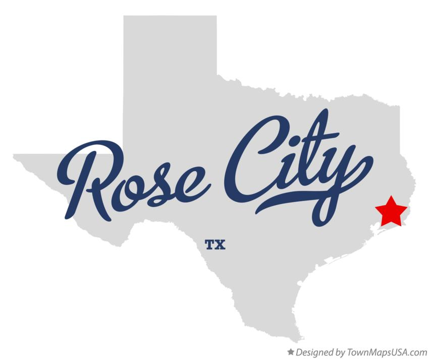 Map of Rose City Texas TX