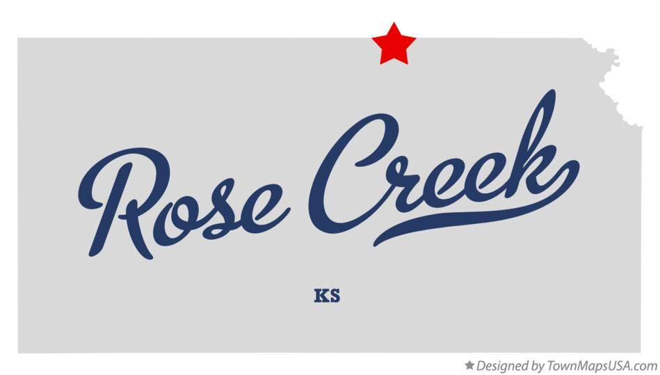Map of Rose Creek Kansas KS