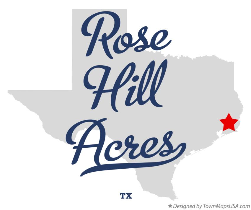 Map of Rose Hill Acres Texas TX