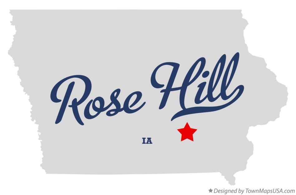 Map of Rose Hill Iowa IA