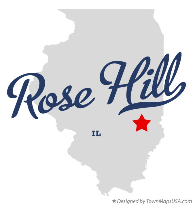Map of Rose Hill Illinois IL