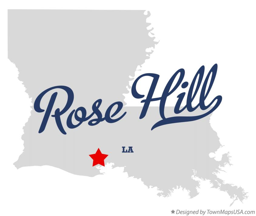 Map of Rose Hill Louisiana LA