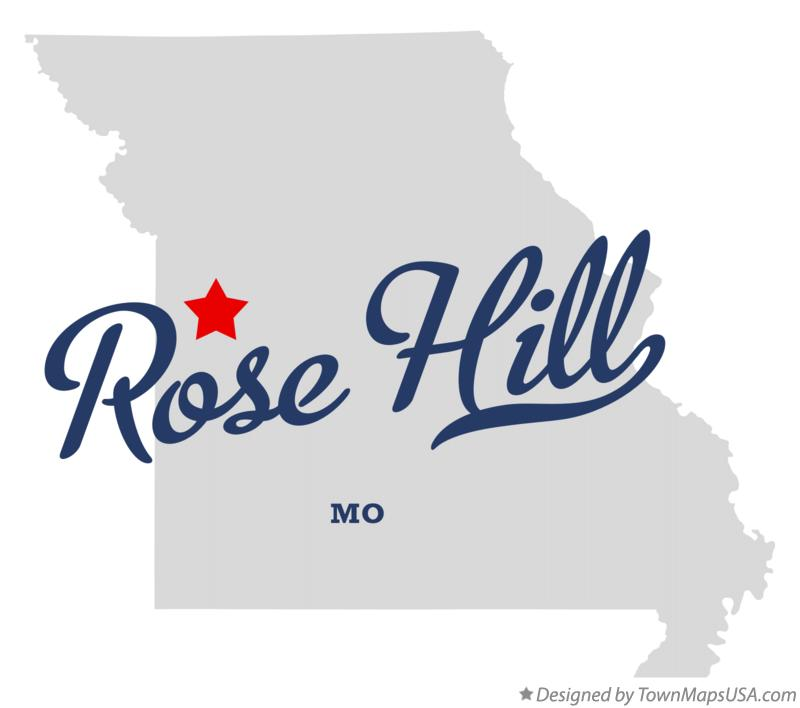 Map of Rose Hill Missouri MO