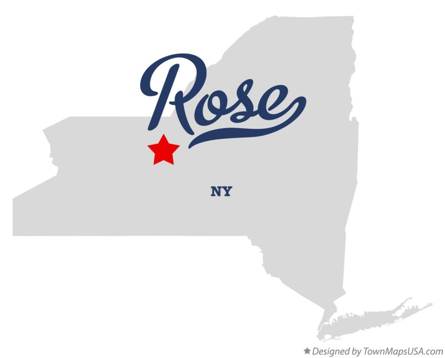Map of Rose New York NY