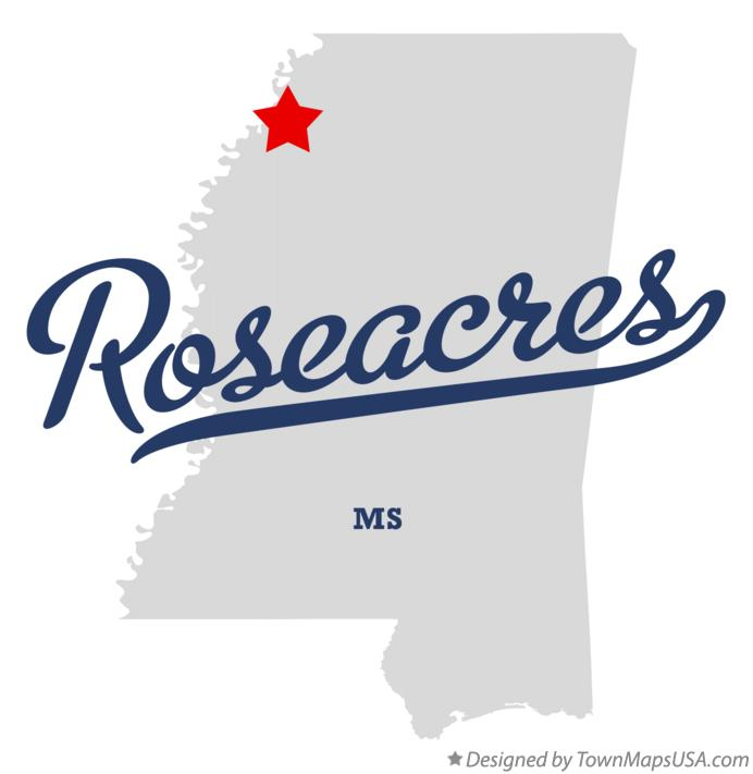 Map of Roseacres Mississippi MS