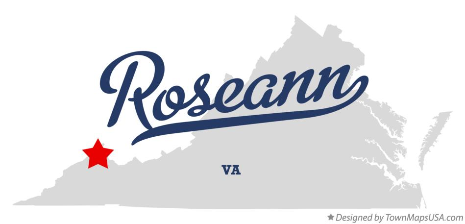 Map of Roseann Virginia VA