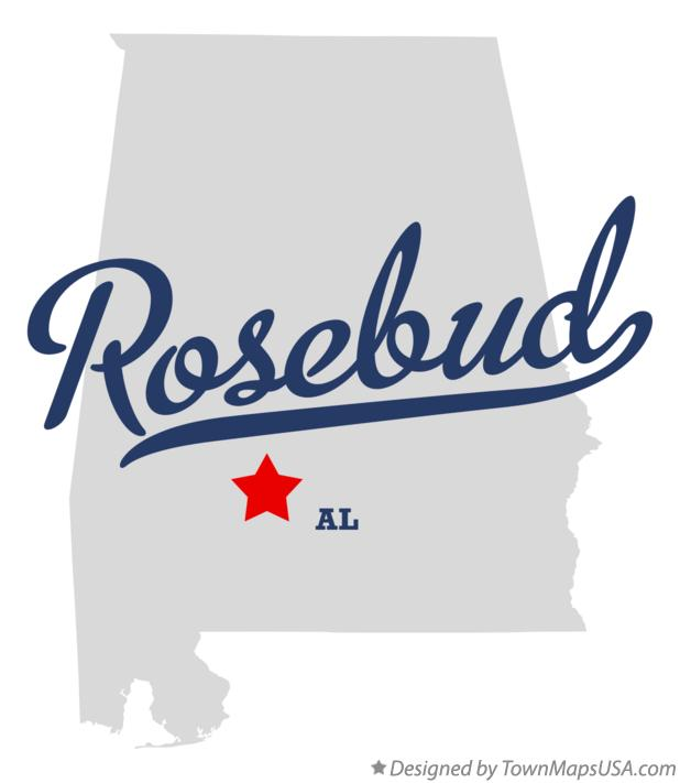 Map of Rosebud Alabama AL