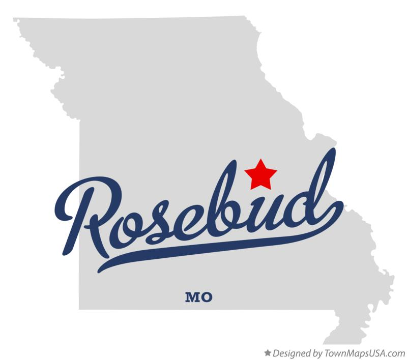 Map of Rosebud Missouri MO